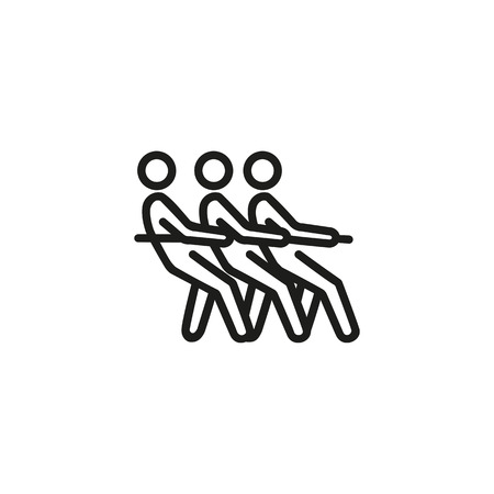 Tauziehen Symbol Leitung. Leute, Kampf, Klage. Krieg Konzept. Vektorillustration kann für Themen wie Krieg, Politik, Krise, Welt verwendet werden Vektorgrafik
