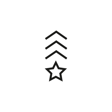 Military rank line icon. Navy, officer, general. Captain concept. Can be used for topics like army, military, award
