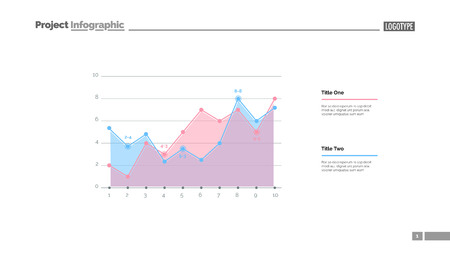 Increasing graph slide template. Business data. Graph, diagram, design. Creative concept for infographic, report. Can be used for topics like statistics, growth, development Illustration