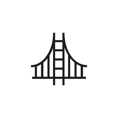 San-Francisco line icon. Golden gate, American bridge, California. Landmarks concept. Can be used for topics like USA, travel, sights