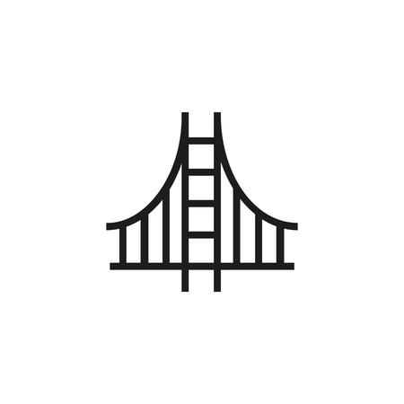 San-Francisco-Liniensymbol. Golden Gate, amerikanische Brücke, Kalifornien. Wahrzeichen-Konzept. Kann für Themen wie USA, Reisen, Sehenswürdigkeiten verwendet werden