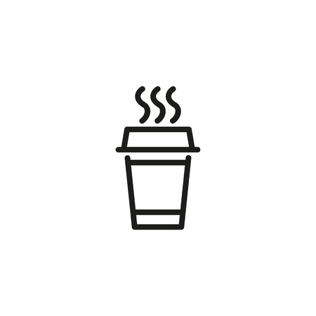 Fresh coffee pot line icon. Takeout coffee, cafe, hot drink. Coffee concept. Vector illustration can be used for topics like drinks, menu, break Banco de Imagens - 113966876