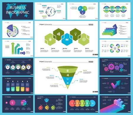 Diapositiva di presentazione aziendale creativa per il concetto di gestione. Può essere utilizzato per progetti aziendali, relazione annuale, web design. Grafico a torta, grafico di processo, grafico di Venn, grafico a barre, diagramma di flusso, diagramma di confronto