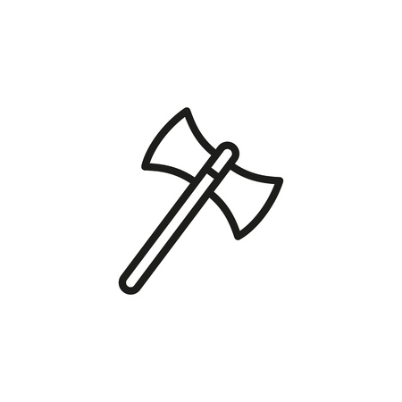 Battle axe line icon. Fighting, weapon, blade. Arms concept. Can be used for topics like battles, wars, Vikings.