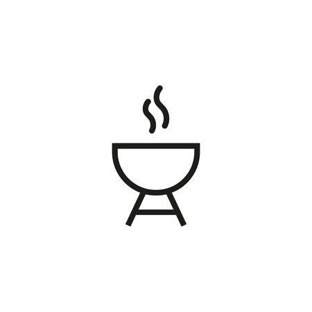 BBQ stand line icon. Meat, frying, picnic. Food concept. Can be used for topics like cooking, family gatherings, parties