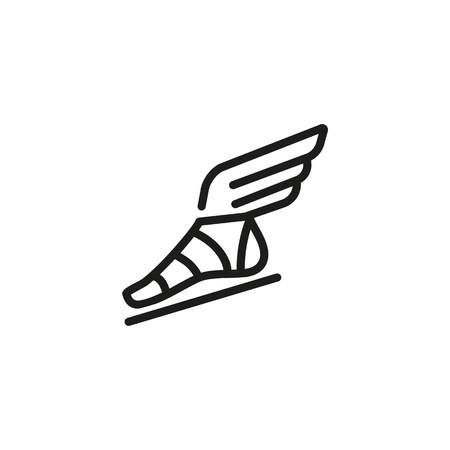 sandal line icon. Ancient Gods, history, legends. History concept. Can be used for topics like ancient history , myths, sagas.