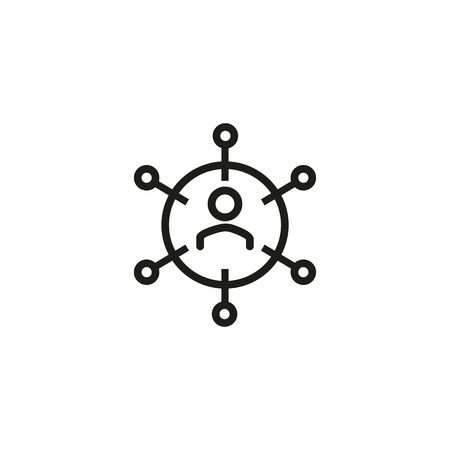 Stockholder line icon. Investor, market, businessman. Trade concept. Can be used for topics like management, diversification, money Illustration