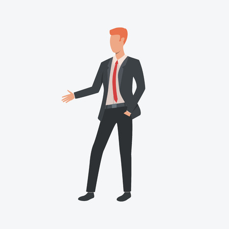 Red headed manager. Young man, office, meeting. Can be used for topics like  business, working, communication