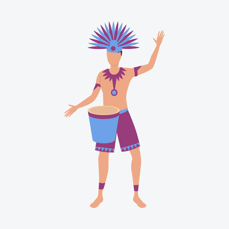 Man in Namerican costume. Young fellow, carnival, festive. Can be used for topics like celebration, greeting, seasonal