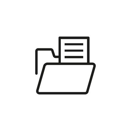 Portfolio line icon. Directory, document, file. Research concept. Can be used for topics like computing, information, management 向量圖像