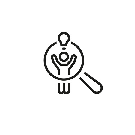 Searching for talent line icon. Research, selection, idea. Career concept. Can be used for topics like choice, vacancy, human resources Illustration