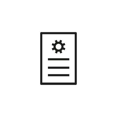 Technical documentation line icon. IT article, configuration, information. Maintenance concept. Can be used for topics like engineering, preferences, service