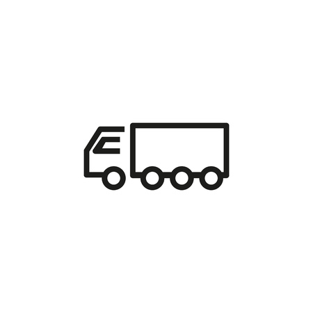 Grain truck line icon. Van, semi truck, cargo. Agricultural machinery concept. Can be used for topics like farming, shipping, delivery, transportation