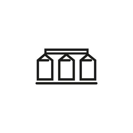 Icona della linea di granaio. Silo, bidone, grano. Concetto di macchine agricole. Può essere utilizzato per argomenti come agricoltura, raccolta, produzione, Vettoriali