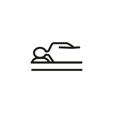 Healthy sleep line icon. Bed, mattress, relaxation. Comfort concept. Can be used for topics like bedroom, insomnia, hotel  イラスト・ベクター素材