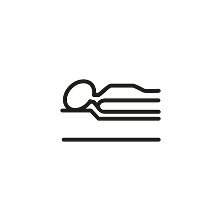 Insomnia line icon. Bed, mattress, relaxation. Comfort concept. Can be used for topics like bedroom, healthy sleep, night  イラスト・ベクター素材