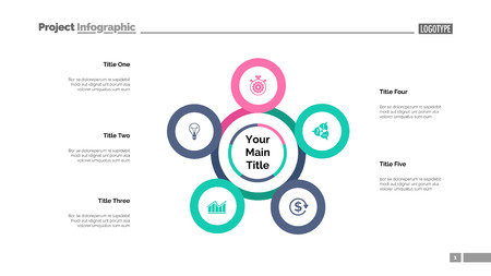 Five points process chart. Business data. Plan, diagram, design. Creative concept for infographic, templates, presentation, report. Can be used for topics like planning, analytics, teamwork.