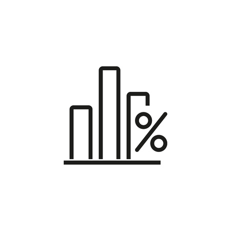 KPI rate line icon. Chart, graph, financial analysis. Interest rate concept. Vector illustration can be used for topics like finance, marketing, analytics Illustration