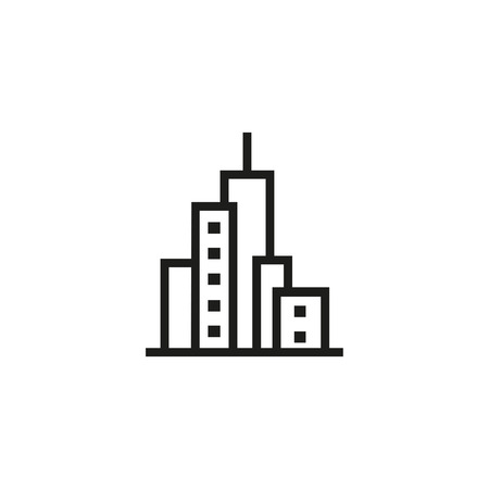 Big city line icon. Downtown, skyscrapers, cityscape. Building concept. Can be used for topics like construction, city, architecture