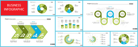 Creative business infographic design for project management concept. Can be used for business project, annual report, web design. Option chart, process chart, timeline, flowchart