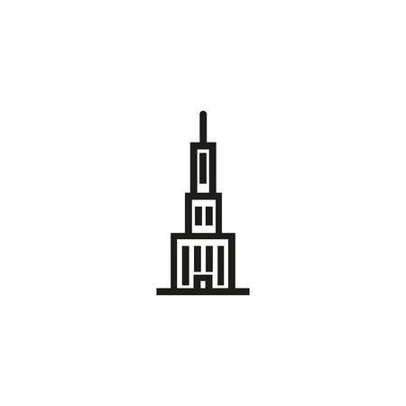 Skyscraper line icon. Tower, landmark, modern building. Building concept. Can be used for topics like construction, city, architecture Illustration