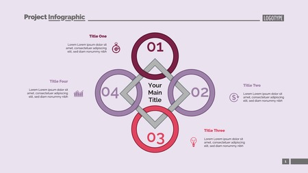 Rhomb diagram. Process chart, cycle graph, layout. Creative concept for infographics, presentation, project, report. Can be used for topics like business, workflow, management.