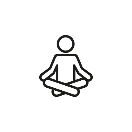 Selfcare line icon. Meditation, yoga, indifference. Mental health concept. Vector illustration can be used for topics like healthy lifestyle, psychology, alternative therapy