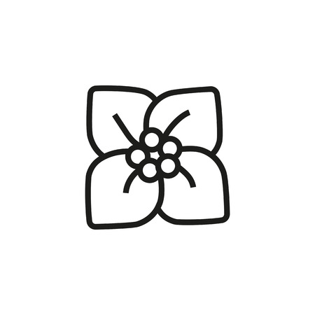 Blossoming flower line icon. Cherry flower, spring, flowerbed. Flower concept. Vector illustration can be used for topics like nature, plants, flora