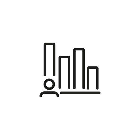 KPI line icon. Productivity, achievement, key performance indicator. Headhunting concept. Vector illustration can be used for topics like business, management, employment