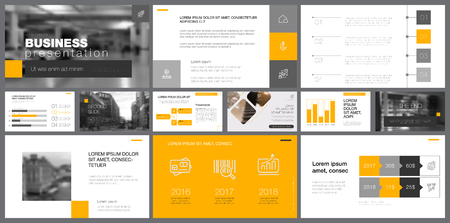 Template of red and grey slides for presentation and reports. Business and accounting concept can be used for infographic design, corporate layout, advertising poster