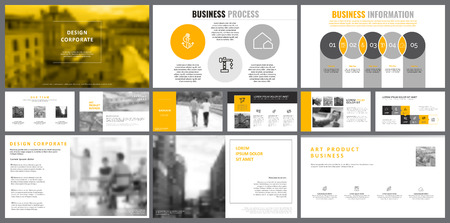 Grey and white infographic design elements for presentation slide templates. Business and analytics concept can be used for corporate report, promotion, workflow layout and banner design.