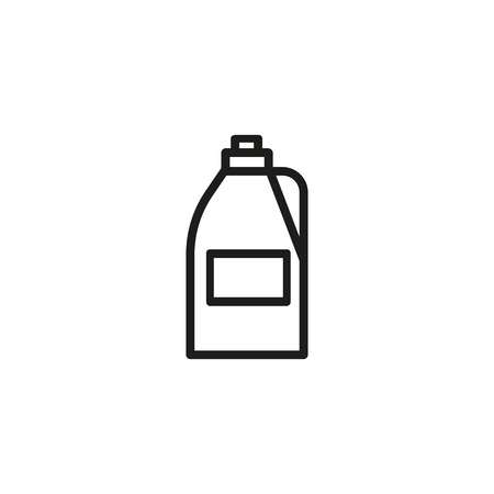 Bleach line icon. Household, daily routine, cleaning. Laundry concept. Vector illustration can be used for topics like laundry, every day life, modern services