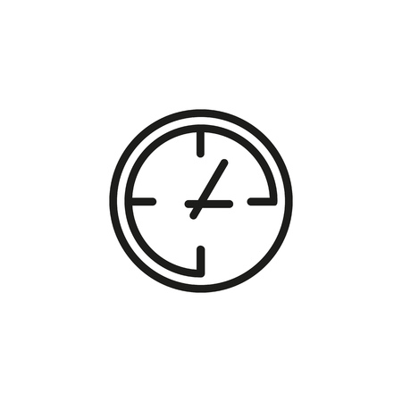 Clocks line icon. Office work, every day, hurry up. Time concept. Vector illustration can be used for topics like time management, work life, daily routine Banque d'images - 120804034