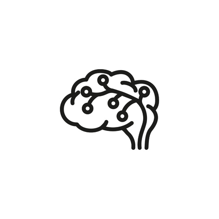 IT brainstorming line icon. Brain, power, energy. Brainstorming concept. Vector illustration can be used for topics like science, development, research Vector Illustration