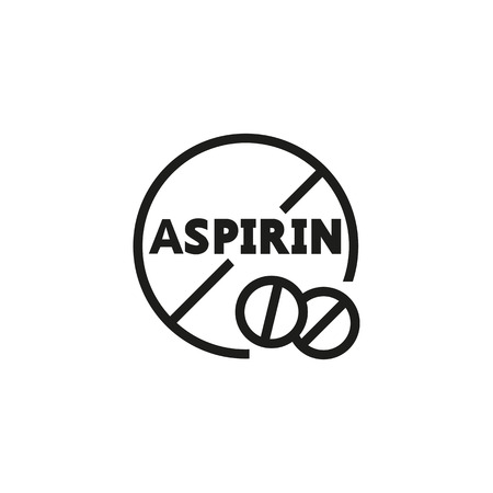 No aspirin line icon. Prohibiting sign, circle, pill. Fever concept. Vector illustration can be used for medicine, pharmacy, treatment, banned drugs