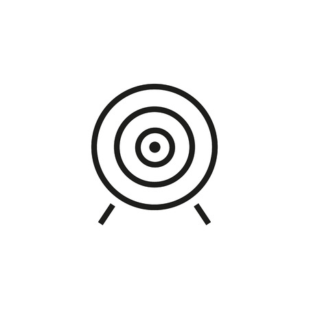 Target board line icon. Dartboard, circle, stand. Target concept. Vector illustration can be used for sport, archery, business