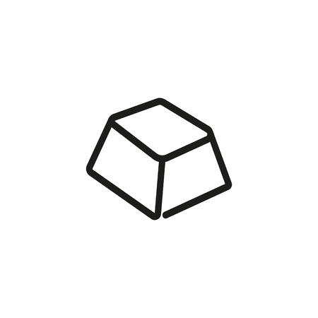 Chocolate segment line icon. Bar, cacao, portion. Dessert concept. Can be used for topics like food, snack, unhealthy eating