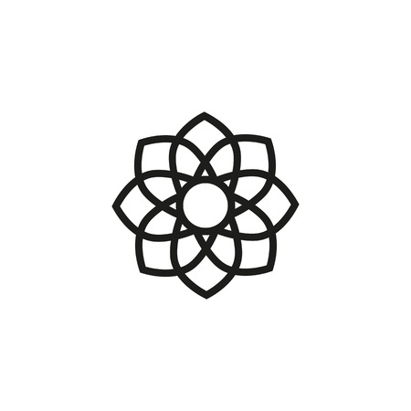 Lotus flower line icon. Plant, nature, blossom. Spa concept. Can be used for topics like yoga, peace, beauty
