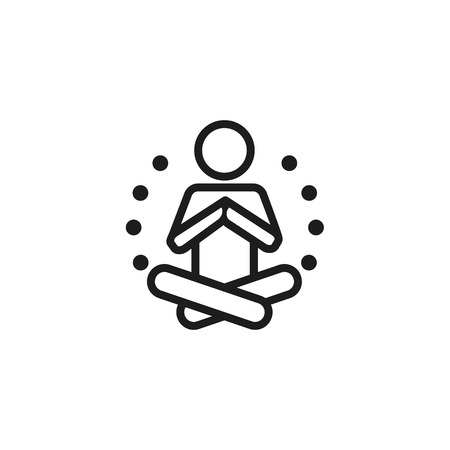 Meditation line icon. Yogi, lotus position, exercise. Yoga concept. Can be used for topics like sport, chakra, balance