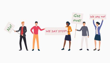Feminism slide rights template. Disconnection, page not find, error. Internet connection concept. Vector illustration can be used for presentation slide, web design, strike
