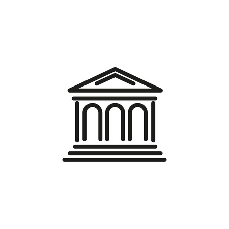 Stock market line icon. Exchange, building, bank, courthouse. Stock market concept. Vector illustration can be used for topics like trading, brokerage, finance
