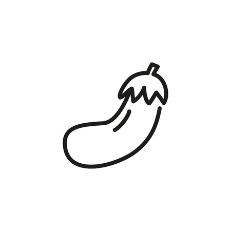 Eggplant line icon. Organic food, vegetarian, grocery. Vegetables concept. Vector illustration can be used for topics like food, healthy eating, agriculture