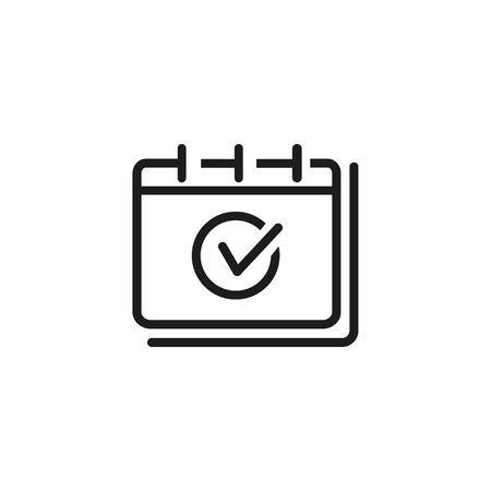 Achievement line icon. Deadline, task done, appointment. Notifications concept. Vector illustration can be used for topics like business, management, planning