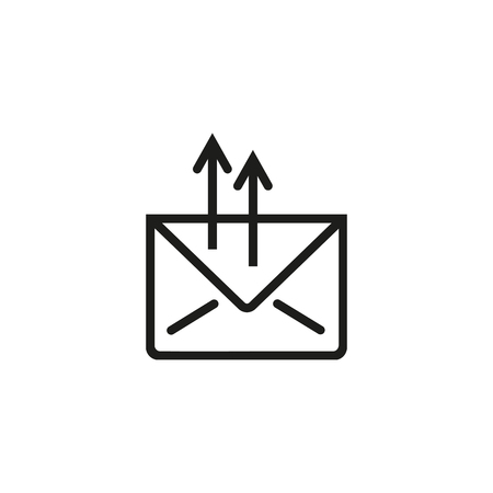 Sending email line icon. Letter, envelope, message. Mailing concept. Vector illustration can be used for topics like internet, applications, communication Çizim