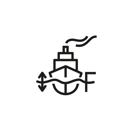 Waterline line icon. Dock, steamer, harbor. Marine port concept. Vector illustration can be used for topics like transportation, travel, tourism