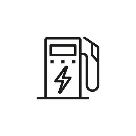 Gasoline pump line icon. Gas station, petrol, oil. Fuel concept. Can be used for topics like industry, power, service Illustration