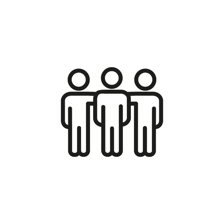 Friends line icon. Team, mates, brotherhood. Friendship concept. Vector illustration can be used for topics like support, teamwork, community