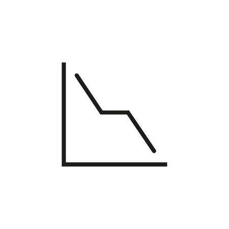 Falling function line icon. Decline, decrease, reduction. Charts and graphs concept. Vector illustration can be used for topics like business, finance, marketing