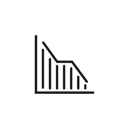 Line chart line icon. Decline, decrease, presentation. Charts and graphs concept. Vector illustration can be used for topics like business, finance, banking