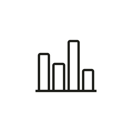 Bar chart line icon. Diagram, research, result. Statistics concept. Can be used for topics like presentation, infographic, project Çizim